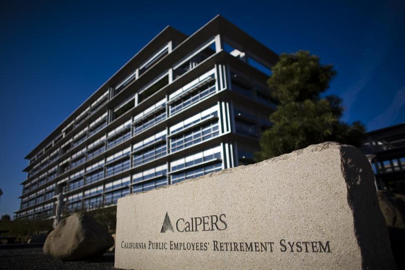 The Headquarters Of Calpers, The Largest U.S. Public Pension Fund, Is Seen In Sacramento